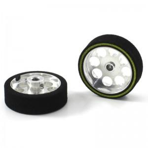 Scaleauto Aluminium Wheels & ProComp-2 Sponge Tyres 25.5x8mm