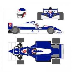 Scaleauto Formula 1990 No.4 Blue/White Jean A