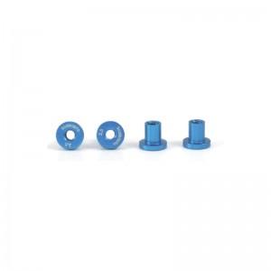 Scaleauto Suspension Mounts 3.5mm Aluminium Light Blue