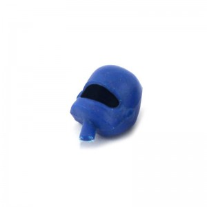 Scalextric Motorcycle Passenger Head Blue