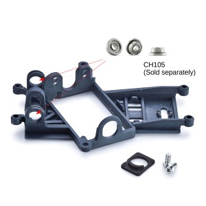 Slot.it Anglewinder Motor Mount 0.5mm Offset EVO6 Hard