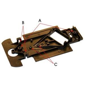 Sloting Plus Reynard 2KQ Chassis Kit Hard SP001027