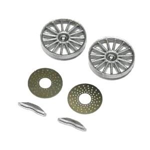 Sloting Plus Reynard 2KQ Silver Wheel Inserts & Brake Discs SP029901