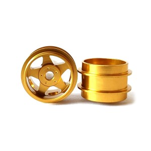 Staffs Aluminium Wheels 5-Spoke Gold 15.8x10mm
