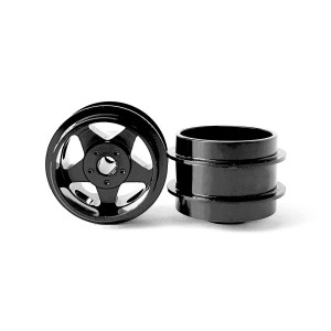 Staffs Aluminium Wheels 5-Spoke Black 15.8x10mm