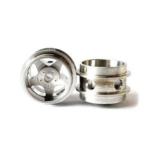 Staffs Aluminium Air Wheels 5-Spoke Silver 15.8x10mm