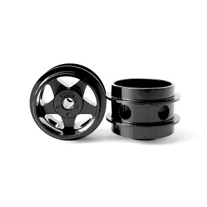 Staffs Aluminium Air Wheels 5-Spoke Black 15.8x10mm