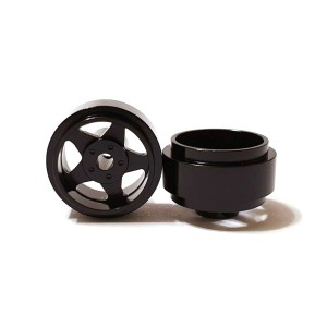 Staffs Aluminium Wheels 5-Spoke Black 15.8x8.5mm