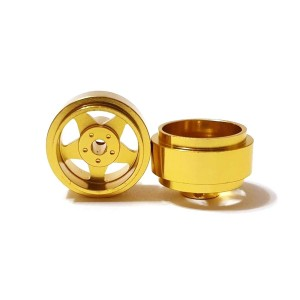 Staffs Aluminium Wheels 5-Spoke Gold 15.8x8.5mm