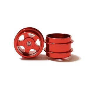 Staffs Aluminium Wheels 5-Spoke Red 15.8x10mm