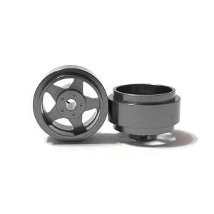 Staffs Aluminium Wheels 5-Spoke Grey 15.8x8.5mm