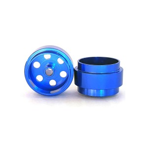 Staffs Aluminium Wheels Bullet-Hole Blue 15.8x10mm