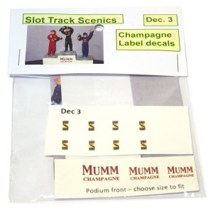 Slot Track Scenics Champagne Bottle Decals