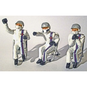 Slot Track Scenics Seated Pit Crew & Chairs B