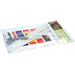 Slot Track Scenics 10 Flags & Poles A STS-FPA