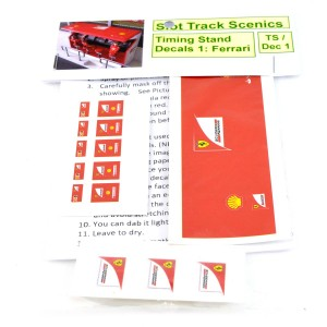 Slot Track Scenics Timing Stand Decals Red