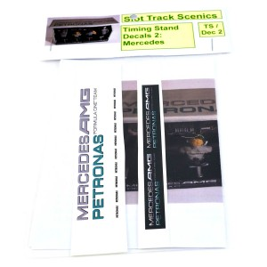 Slot Track Scenics Timing Stand Decals Silver/Green