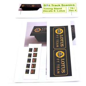 Slot Track Scenics Timing Stand Decals Black/Gold