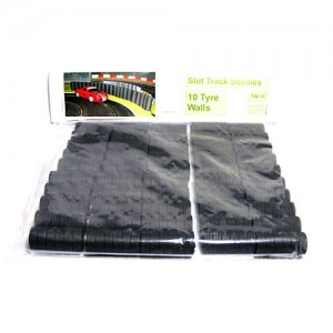 Slot Track Scenics Tyre Wall x10 STS-TW10