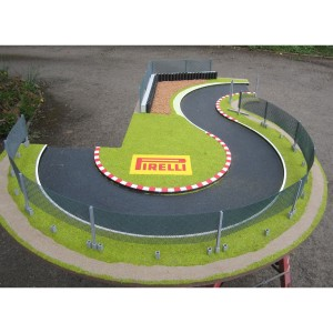 Slot Track Scenics White Lines for Radius 2 Curves x4