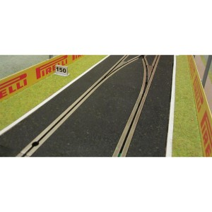 Slot Track Scenics White Lines for Straights 350mm x4