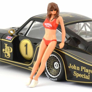 Racer Sideways Hawaiian Girl Figure Jane