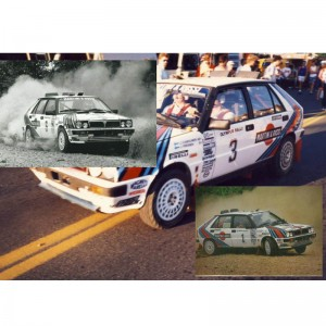 Team Slot Lancia Delta HF Olympus Rally 1987 Triple Set