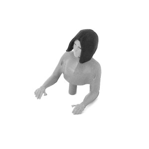 Team Slot Half Female Passenger Figure Unpainted