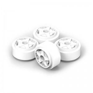 Team Slot Plastic Wheels 15.8x8.5 Audi 5 Spoke White