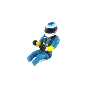 Scalextric F1 Driver Blue/Yellow
