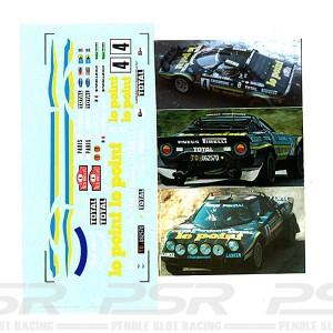 DMC Lancia Stratos No.4 Le Point Decals 24-331
