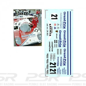 DMC Porsche 956 No.21 Grand Prix Magazine Decals 24-343