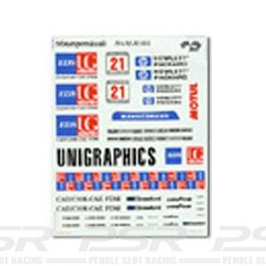 DMC Porsche 911 GT1 No.21 Unigraphics Decals 32-001