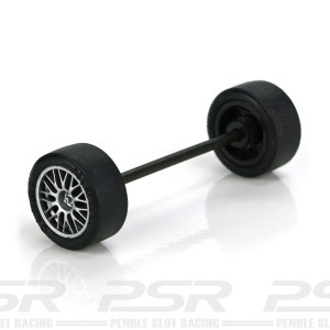 Ninco GT Front Axle Kit 63mm BBS Silver