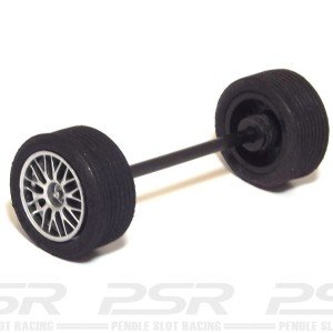 Ninco GT3 Front Axle Kit 59mm BBS Silver