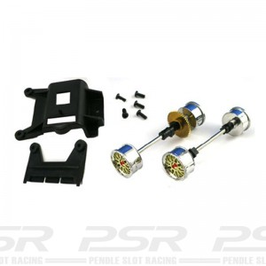 Carrera 1/24th Front & Rear Axle for Porsche GT1