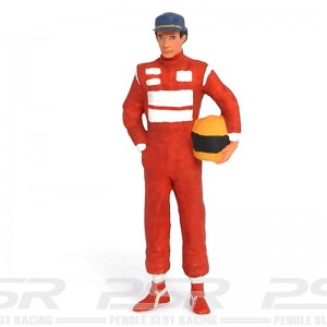 Figurenmanufaktur Racing Driver with Helmet Red Figure