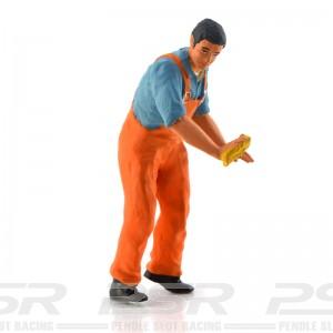 Figurenmanufaktur Mechanic Cleaner Orange Figure
