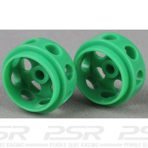 Avant Slot Delrin Wheels 14,5x9 Green x2 AS20727