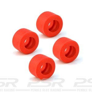 All Slot Car Tyres GP Rear Red x20