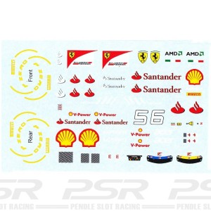 All Slot Car Decal GP Alonso & Massa