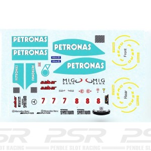 All Slot Car Decal GP Schumacher & Rosberg