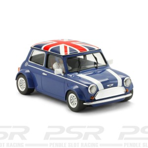 BRM Mini Cooper Classic Blue Union Jack Roof - 1/24th Scale