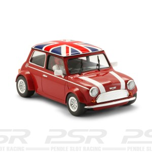 BRM Mini Cooper Classic Red Union Jack Roof - 1/24th Scale