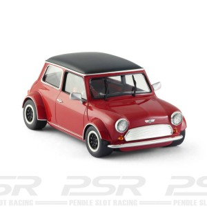 BRM Mini Cooper Classic Red Black Roof - 1/24th Scale