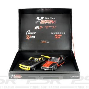 BRM 1/24 Mustang & Camaro Black Edition Twin Pack