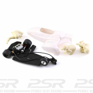 BRM Motorcycle Sidecar White Kit 1/18th