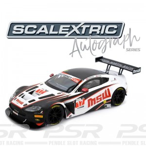 Scalextric Autograph Series Aston Martin Vantage GT3 Jonny Adams & Derek Johnston
