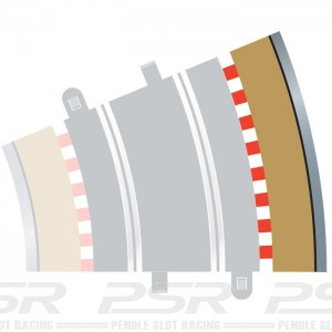Scalextric Radius 3 Curve Outer Borders 22.5 Degree x4 C8224