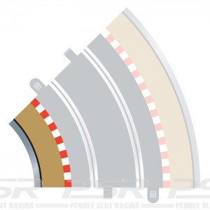 Scalextric Radius 2 Curve Inner Borders 45 Degree x4 C8225
